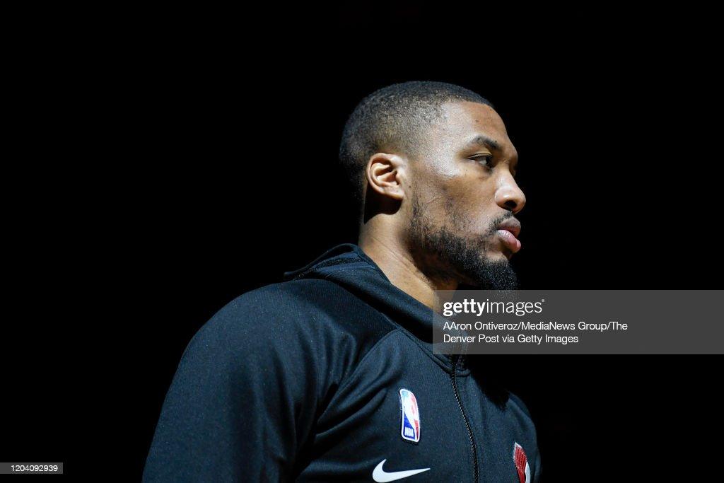 DENVER NUGGETS VS PORTLAND TRAIL BLAZERS, NBA REGULAR SEASON : News Photo