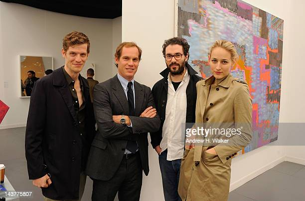 Damian Loeb Adam Kimmel and Leelee Sobieski attend Frieze New York/Soho House pop up at Randall's Island on May 3 2012 in New York City