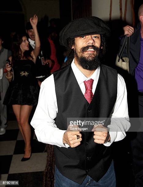 Damian Marley attends the Black Ball UK in aid of 'Keep A Child Alive' HIV/AIDS charity at St John's, Smith Square on July 10, 2008 in London,...