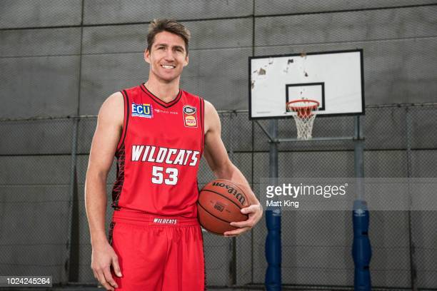 Damian Martin of the Perth Wildcats poses during the NBL First Ever Apparel Uniform Launch athe the Ultimo Community Centre on August 27 2018 in...