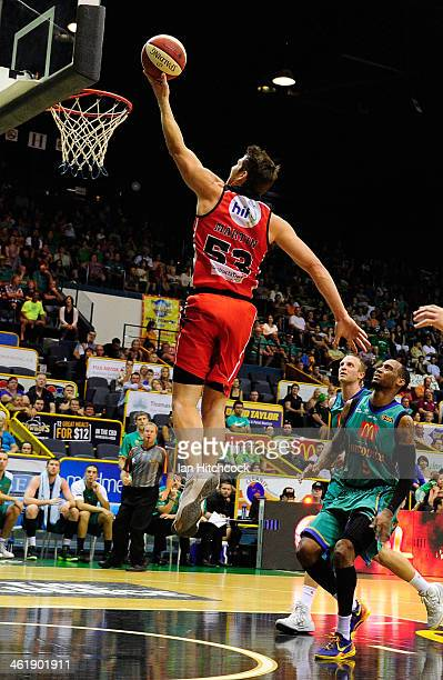 Damian Martin of the Wildcats attempts a layup during the round 13 NBL match between the Townsville Crocodiles and the Perth Wildcats at Townsville...