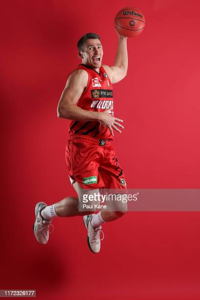 Damian Martin poses during a Perth Wildcats NBL portrait session on August 30, 2019 in Perth, Australia.