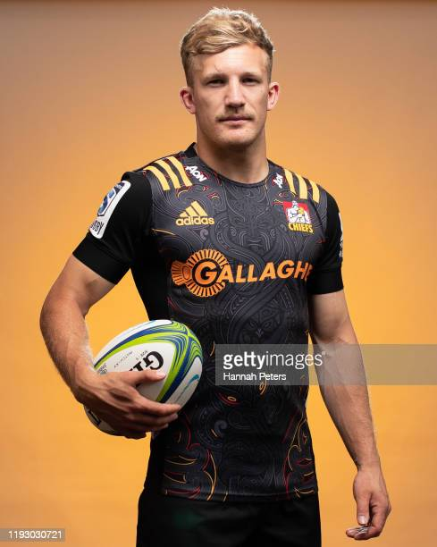 Damian McKenzie poses during the Chiefs portraits session on November 28 2019 in Hamilton New Zealand