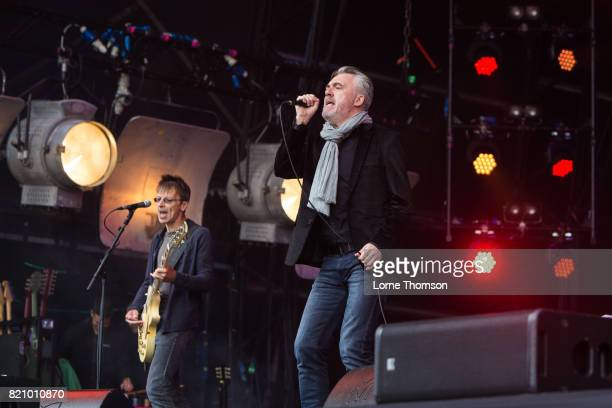 Damian O'Neill and Paul McLoone of The Undertones perform on Day 2 of Rewind Festival at Scone Palace on July 22 2017 in Perth Scotland