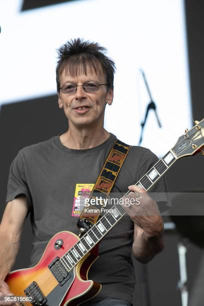 Damian O'Neill of The Undertones performs with Ash at the BBC 6Music Biggest Weekend at Titanic Slipways on May 26 2018 in Belfast Northern Ireland