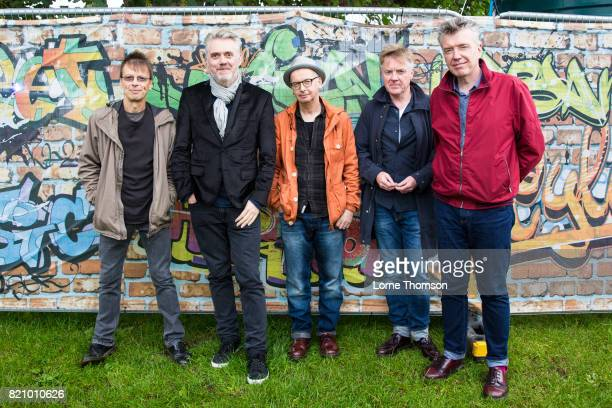 Damian O'Neill Paul McLoone John O'Neill Billy Doherty and Michael Bradley of The Undertones pose for photographers on Day 2 of Rewind Festival at...