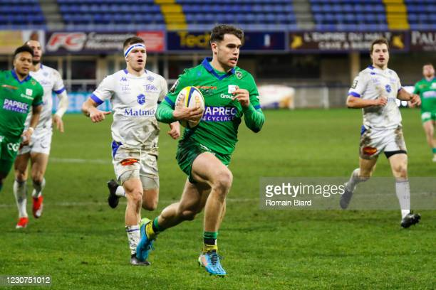 Damian PENAUD of Clermont during the Top 14 match between Clermont and Castres at Stade Marcel Michelin on January 23, 2021 in Clermont-Ferrand,...