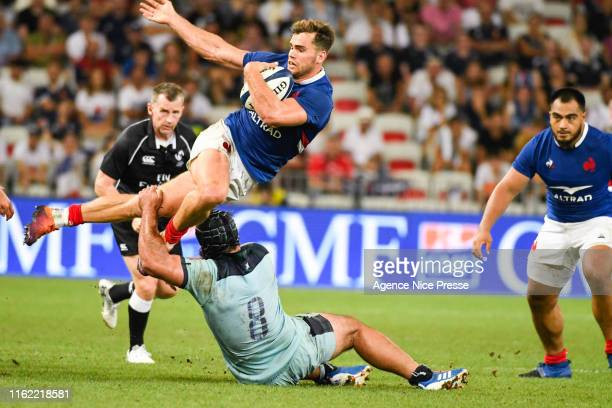 Damian Penaud of France during the test match between France and Scotland on August 17 2019 in Nice France