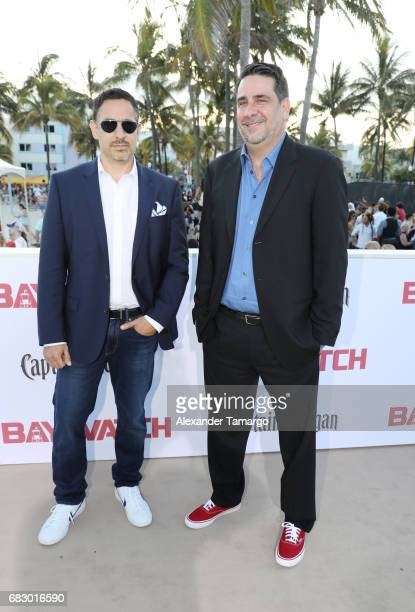 Damian Shannon and Mark Swift attend the world premiere of Paramount Pictures film 'Baywatch' at South Beach on May 13 2017 in Miami Florida