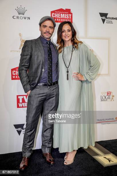 Damian WalsheHowling and partner arrives at the 59th Annual Logie Awards at Crown Palladium on April 23 2017 in Melbourne Australia