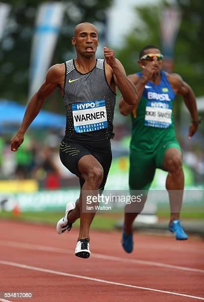 Damian Warner of Canada in action in the mens Decathlon 100 metres during the Hypomeeting Gotzis 2016 at the Mosle Stadiom on May 28 2016 in Gotzis...