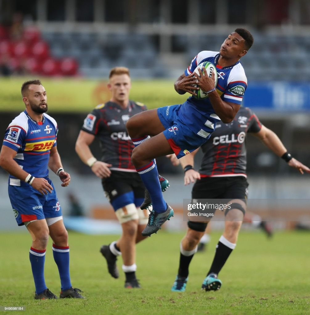 Damian Willemse of The DHL Stormers during the Super Rugby match between Cell C Sharks and DHL Stormers at Jonsson Kings Park on April 21, 2018 in Durban, South Africa.