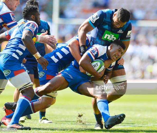 Damian Willemse of the Stormers in action during the Super Rugby match between DHL Stormers and Blues at DHL Newlands on March 17 2018 in Cape Town...