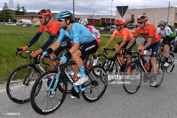 Damiano Caruso of Italy and Team Bahrain Merida / Manuele Boaro of Italy and Astana Pro Team / Grega Bole of Slovenia and Team Bahrain Merida / Scott...