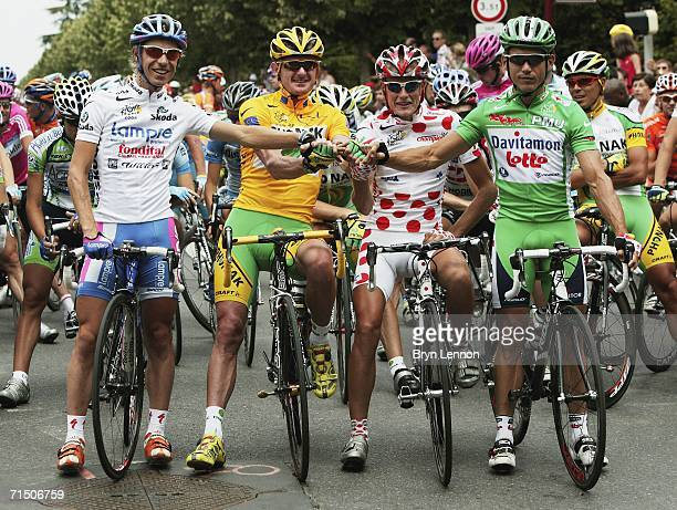 Damiano Cunego of Italy and Lampre , Floyd Landis of the USA and Phonak , Mickael Rasmussen of Denmark and Rabobank and Robbie McEwen of Australia...