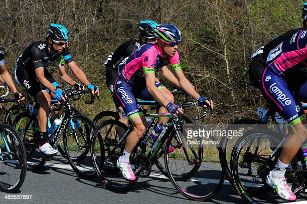 Damiano Cunego of Italy and Team LampreMerida during Stage Three of Vuelta Al Pais Vasco from Urdax to VitoriaGasteiz on April 9 2014 in...