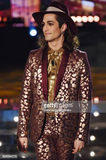 Damiano David of Maneskin attends 'E Poi C'e Cattelan' Tv Show on January 23, 2018 in Milan, Italy.