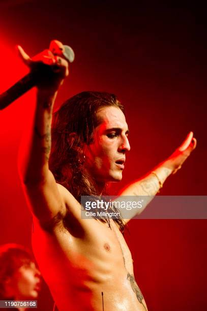Damiano David of Måneskin performs onstage at The Dome Tufnell Park on November 28 2019 in London England