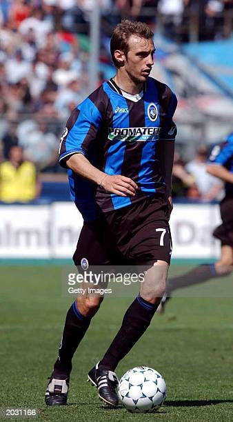 Damiano Zenoni of Atalanta in action during the Serie A match between Atalanta and Inter Milan played on May 3 2003 at the Azzurri d'Italia Stadium...