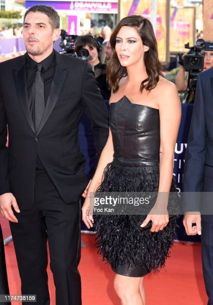 Damien Bonnard and Anna Mouglalis attend the Award Ceremony during the 45th Deauville American Film Festival on September 14 2019 in Deauville France