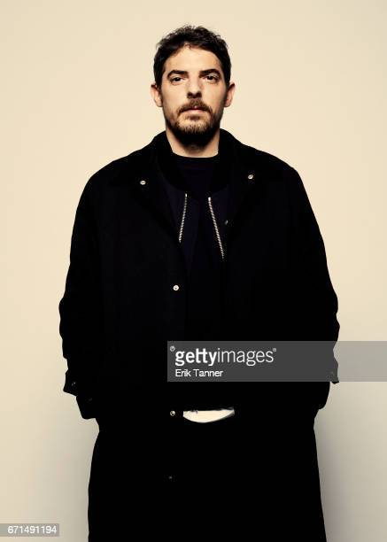 Damien Bonnard from 'Thirst Street' poses at the 2017 Tribeca Film Festival portrait studio on April 21 2017 in New York City