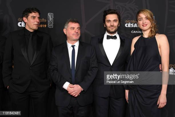 Damien Bonnard Pierre Salvadori Pio Marmai and Adele Haenel attend Cesar Film Awards 2019 at Salle Pleyel on February 22 2019 in Paris France