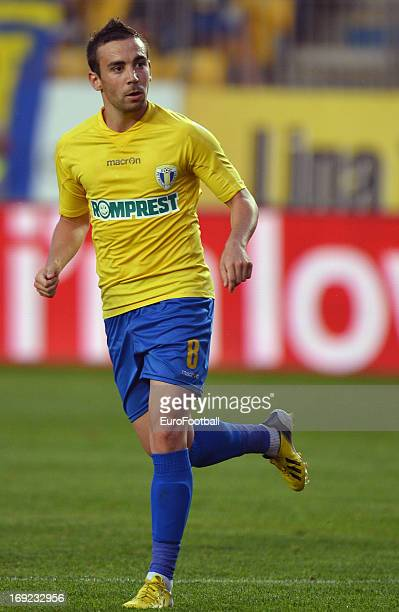 Damien Boudjemaa of FC Petrolul Ploiesti in action during the Romanian First Division match between FC Petrolul Ploiesti and FC Astra Ploiesti held...