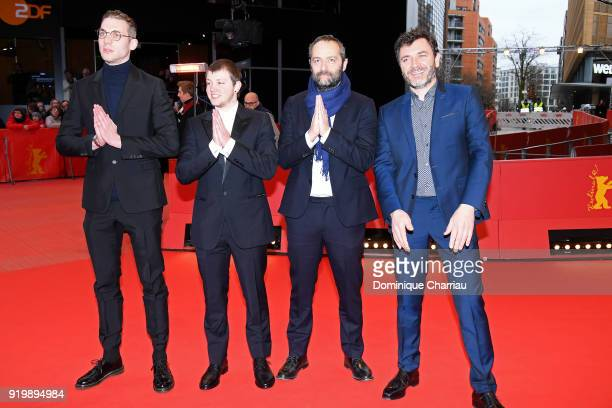 Damien Chapelle Anthony Bajon Cedric Kahn and Alex Brendemuehl attend the 'The Prayer' premiere during the 68th Berlinale International Film Festival...