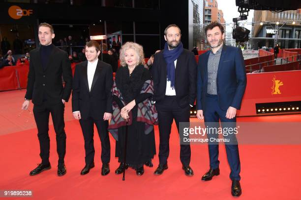 Damien Chapelle Anthony Bajon Hanna Schygulla Cedric Kahn and Alex Brendemuehl attend the 'The Prayer' premiere during the 68th Berlinale...