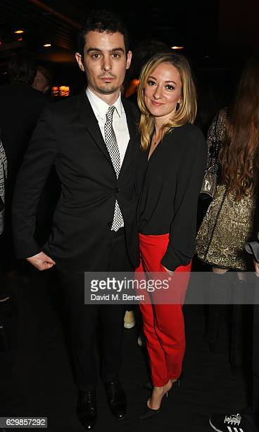 Damien Chazelle and Olivia Hamilton attend a reception in honour of 'La La Land' with Damien Chazelle Emma Stone and Justin Hurwitz at The Arts Club...
