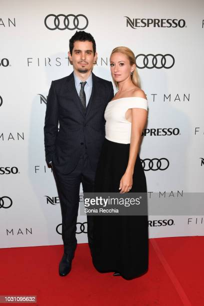 Damien Chazelle and Olivia Hamilton attend Nespresso and Audi hosted First Man Premiere Party at Patria on September 10 2018 in Toronto Canada