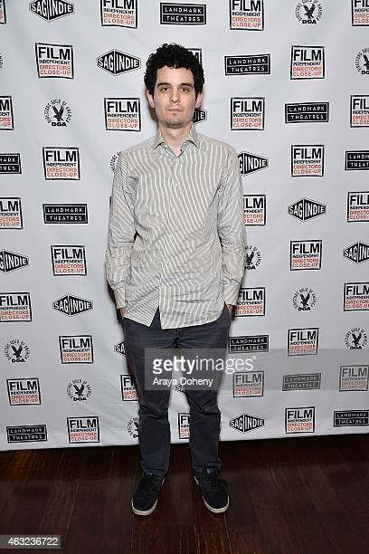 Damien Chazelle attends the Film Independent's The Independent Spirit Damien Chazelle The Rhythm Of 'Whiplash' at the Landmark Theater on February 11...