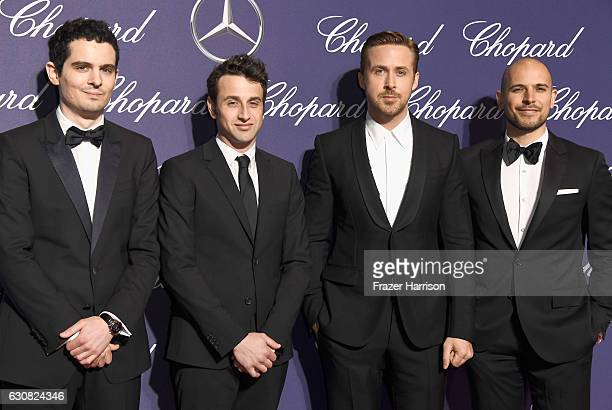 Damien Chazelle Justin Hurwitz Ryan Gosling and Fred Berger attend the 28th Annual Palm Springs International Film Festival Film Awards Gala at the...