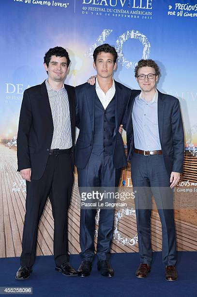 Damien Chazelle Miles Teller and Nicholas Britell attend the 'Whiplash' Photocall on September 11 2014 in Deauville France