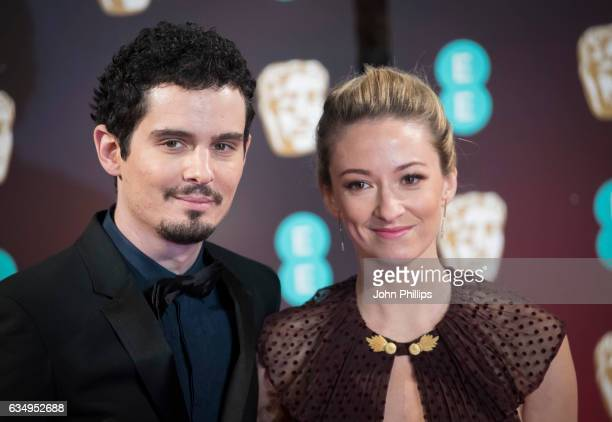 Damien Chazelle Olivia Hamilton attend the 70th EE British Academy Film Awards at Royal Albert Hall on February 12 2017 in London England