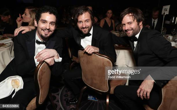 Damien Chazelle Ross Duffer and Matt Duffer attend the 2017 Writers Guild Awards LA Ceremony at The Beverly Hilton Hotel on February 19 2017 in...