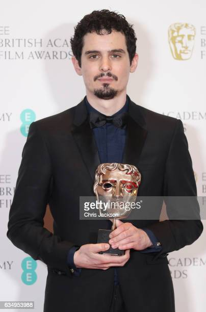 Damien Chazelle winner of Best Director for 'La La Land' during the 70th EE British Academy Film Awards at Royal Albert Hall on February 12 2017 in...