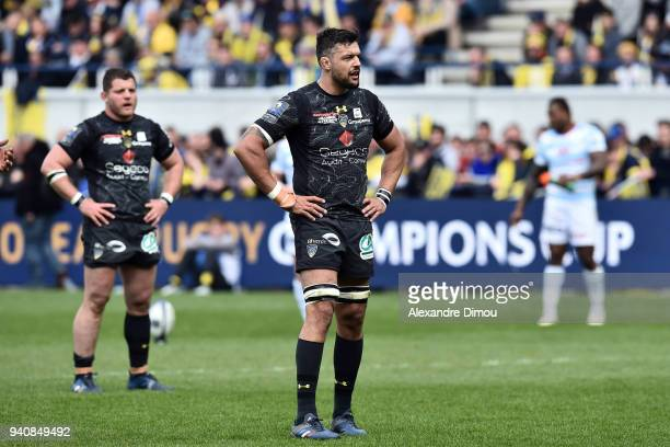 Damien Chouly of Clermont during the Champions Cup match between ASM Clermont and Racing 92 on April 1 2018 in Clermont France