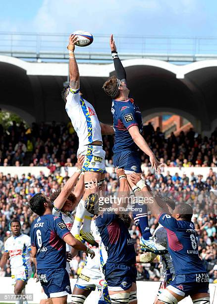 Damien Chouly of Clermont during the French Top 14 rugby union match between BordeauxBegles v Clermont at Stade ChabanDelmas on March 27 2016 in...