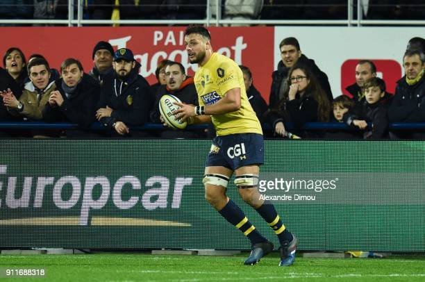 Damien Chouly of Clermont during the Top 14 match between Clermont and Montpellier at on January 28 2018 in Clermont France