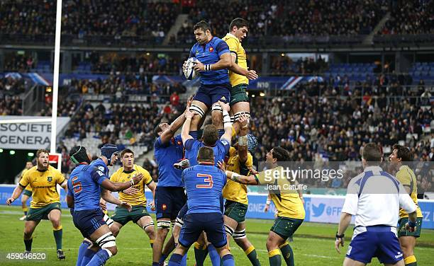 Damien Chouly of France in action during the international friendly match between France and Australia at Stade de France on November 15, 2014 in...