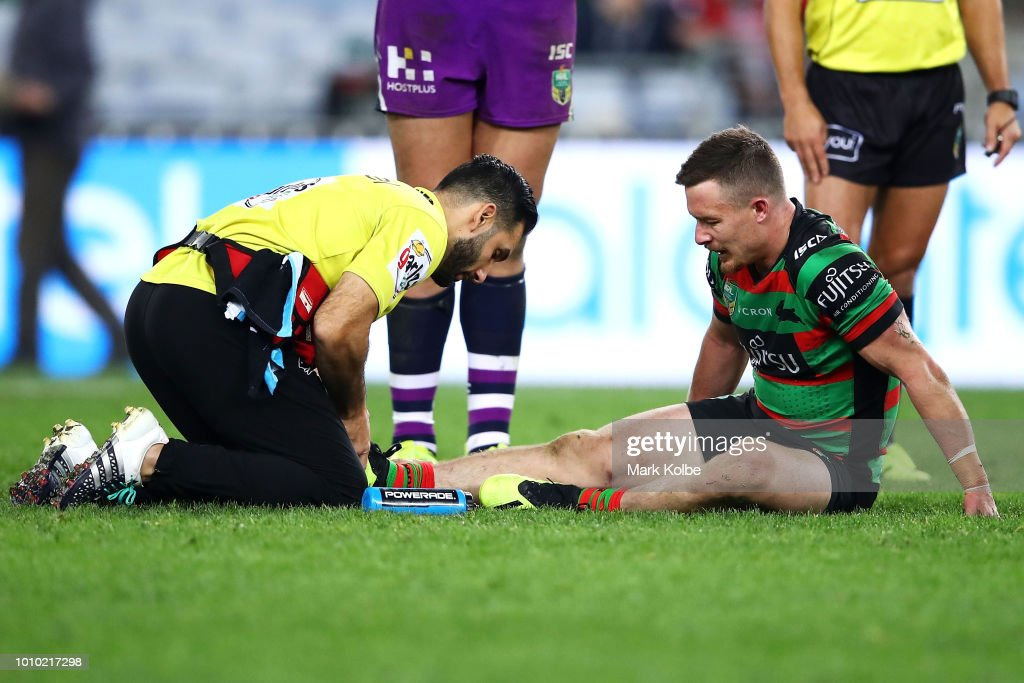 Damien Cook Of The Rabbitohs Receives Attention From The Trainer News Photo Getty Images