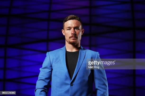 Damien Cook poses during the New South Wales Blues State of Origin Team Announcement at The Star on May 28 2018 in Sydney Australia