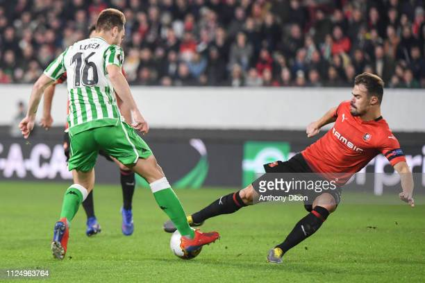 Damien Da Silva of Rennes during the UEFA Europa League Round of 32 First Leg match between Rennes and Real Betis at Roazhon Park on February 14 2019...