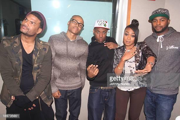Damien Dante Wayans George O Gore II host DJ Whoo Kid Tatyana Ali and Craig Wayans invade The Whoolywood Shuffle at SiriusXM Studios on January 15...