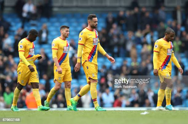 Damien Delaney of Crystal Palace walks off dejected after the Premier League match between Manchester City and Crystal Palace at the Etihad Stadium...