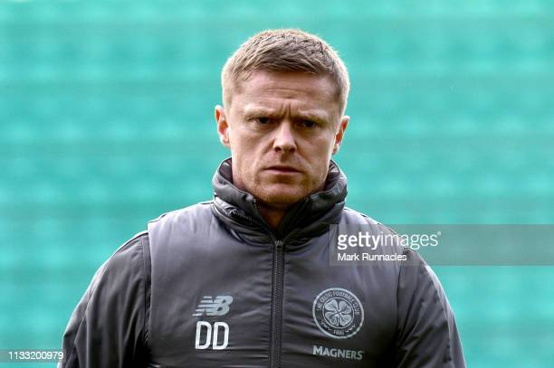 Damien Duff, Celtic first team coach arrives at the stadium prior to the Scottish Cup quarter final match between Hibernian and Celtic at Easter Road...