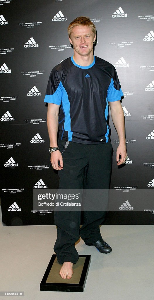 Damien Duff during Launch of First Adidas Sports Performance Store in London at Adidas Store in London, Great Britain.