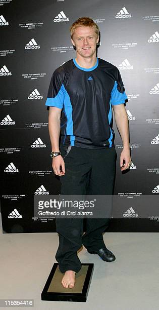 Damien Duff during Launch of First Adidas Sports Performance Store in London at Adidas Store in London Great Britain