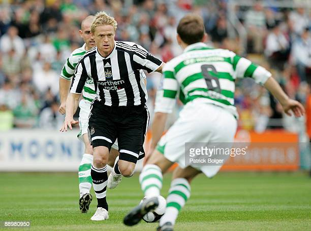 Damien Duff of Newcastle in action during the preseason friendly match between Shamrock Rovers and Newcastle United at the Tallaght Stadium on July...